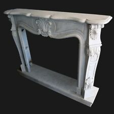 Fireplace Marble Carrara Frame Style Classic White