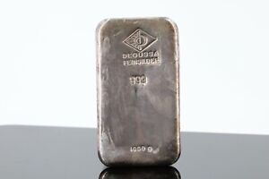 Silberbarren 1kg Degussa Feinsilber 999 Silberbarren 1000g 999,0 Fine Silver #B3