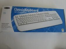Belkin Classic Keyboard PS/2  5' Cord Hot Keys Quiet Accuracy Technology White