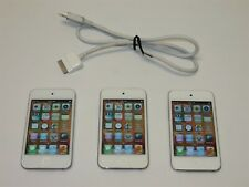 Lot of 3 White Apple iPod touch (4th Gen) 8Gb Mp3 Music Players A1367 Bundle