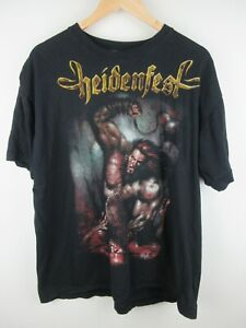 Heidenfest 2010 Twilight of The Gods Mens T Shirt Size XL Crew Neck Mental Band