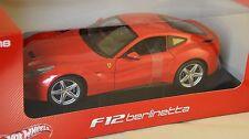 HOTWHEELS WBCJ72  -  Ferrari F12 Rouge course 1/18