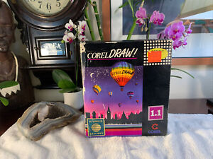 "Vintage Corel Draw Version 1.1 RARE 3 1/2"" Format COMPLETE Brand New Open Box"