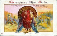 1922 Thanksgiving Joys Turkey Postcard George Townsend Delaware AG