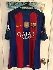 2016/17 Spain FC Barcelona match worn player issue jersey MESSI shirt Argentina