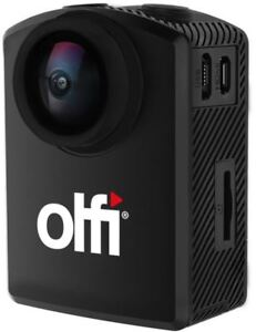 Olfi One.five Black Edition 4K Action Camera - Waterproof, 120 fps, colour LCD