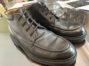 Vintage Kenneth Cole New York Mens Black Leather Ankle Lace-up Boot Sz 9.5 Italy