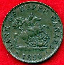 1850 Upper Canada Half Penny Coin Token