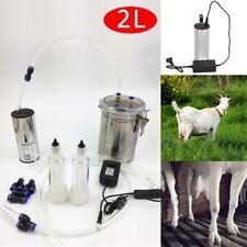 2L Elektrisch Melkmaschine Melken Ziege Milker Melkeimer Melkmaschine Edelstahl
