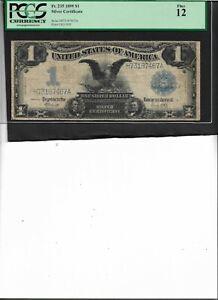 SILVER CERTIFICATE Fr. 235 1899 $1 Fine 12