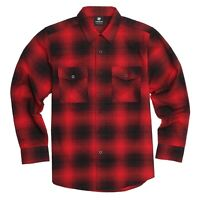 YAGO Men's Casual Plaid Flannel Long Sleeve Button Down Shirt Red/7F (S-5XL)