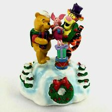 Disney Winnie The Pooh & Friends Music Box 'Wish You A Merry Christmas' New