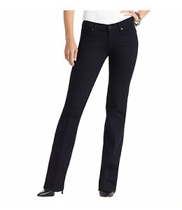 Ann Taylor LOFT Curvy Flare Leg Jeans Pants in Saturated Rinse Wash Size 27/4