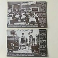 Vintage Advertising Postcards x2 Martinez Spanish Restaurant Piccadilly London