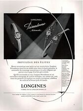 ▬► PUBLICITE ADVERTISING AD Montre Watch LONGINES primadonna 1958