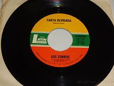 LOS ZORROS Carta Abierta / carta Olvidada 45 Latin Discos DLI-1134 (1977) NM
