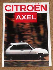 1986 CITROEN AXEL Sales Brochure (DUTCH MARKET) - Axel 12 TRS, 11