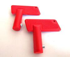 2 x Spare Keys For Battery Isolator Switch 100A 12v Cut Off Power Kill Key