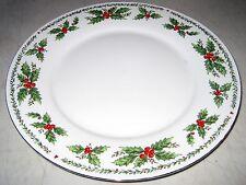 "CENTURION CHRISTMAS COLLECTION HOLLY BORDER 10 1/2"" DINNER PLATE"