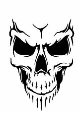 High Detail Skull Airbrush Stencil - Free UK Postage