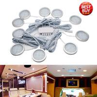 10x 12V Interior LED Spot Lights For RV Car Camper Caravan Boat SUPER WHITE LAMP