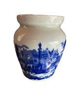 Vintage Victorian Wear Flow Blue Iron Stone Ginger Jar