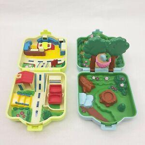 Vintage 1997 Tomy Nintendo Pokemon Polly Pocket Play Toy Lot Of 2 - No Figures