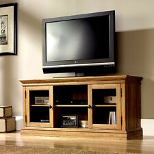 NEW Oak Television TV Stand Flat Screen 52 Inch Entertainment Center, US Stock