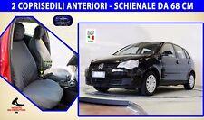 Coprisedili Volkswagen Polo 2007> Schienali set fodere copri sedili auto cotone