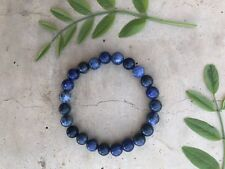 Sodalite Crystal Bead Bracelet Natural Gemstone Healing Yoga Meditation