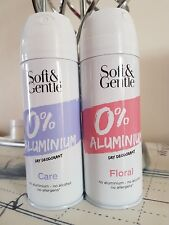 2x Soft & Gentle Active Aluminium/Alcohol/Allergen-Free Deodorants FLORAL & CARE