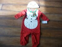 NEW NWT Carters boy/girl 6 months Christmas snowman sleeper and hat set SO CUTE
