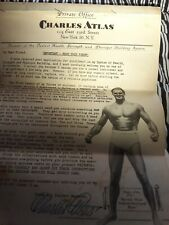 Health and Strength by Charles Atlas Private Office New York  signed letter. 11
