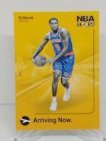 2019-20 NBA HOOPS ARRIVING NOW RC RJ BARRETT NEW YORK KNICKS INSERTS