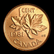 (2-coins) 1981  Canada   1 cent     uncirculated  coin from roll