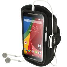 Nero Fascia Braccio Armband per Motorola Moto G 2 & 3 Gen  Sport Corsa Jogging