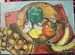"""STILL LIFE"" by Ruth Freeman  ACRYLIC ON STRETCHED CANVAS 14"" X 20"""