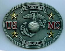 US Marines Buckle Gürtelschnalle United States USMC Army Semper Fi