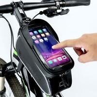 Waterproof Mountain Bike Frame Front Bag Pannier Bicycle Mobile Phone Hold UK