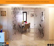 Sliding Door Double Panel Filomuro Glass With Design