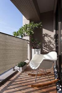 Alion Home© Privacy Screen 3,4,5,6FT Tall Custom Length Walnut Patio Fence Yard