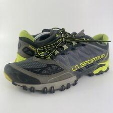La Sportiva Bushido Gray/Black/Green Trail Running Hiking Shoes Men's Size 11.5