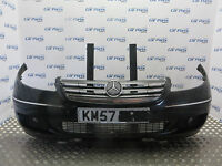 MERCEDES A 07-09 COMPLETE FRONT BUMPER IN BLACK 5 MONTH WARRANTY