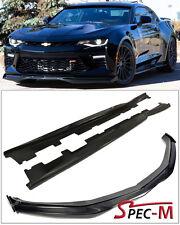16-18 Camaro SS V8 Carbon Fiber Front Bumper Lip Winglets / Side Rocker Lip T6