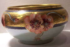 antique Austria Bavaria hand painted porcelain serving bowl signed dated 1910