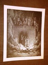 Incisione Gustave Dorè 1880 Bibbia SADRACH, MESACH E ABDENEGO Bible Engraving