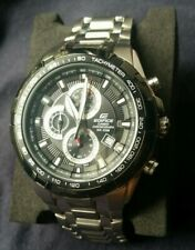 Casio Men's Edifice Watch - *Needs Battery*  - Silver Bracelet Black Dial/Face-