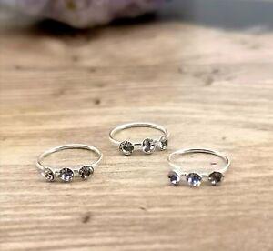 Triple Gem Nose Ring