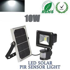 10W Solar Lights LED Motion Sensor Floodlight Outdoor PIR Garden Security Lamp