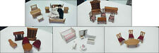 Dolls House Furniture. 5 Different Room Sets.